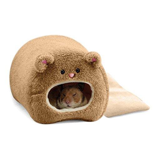 TOOGOO Jaula colgante calida de invierno para Ratas Hamster Casa linda para Hamaca con alfombra de cama para pequenos animales peludos