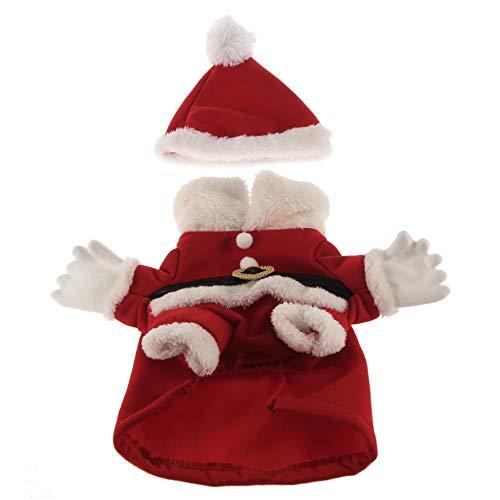 Holiday Seasons Dog Pet Santa Kostüm Kleidung und Mütze Red - Holiday Pet Kostüm