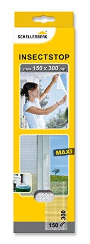 Schellenberg 50324 Fliegengitter | 150 x 300 cm | weiß | individuell kürzbar | perfekter Insektenschutz für große Fenster | UV-beständig & reißfest | einfache Montage ohne bohren