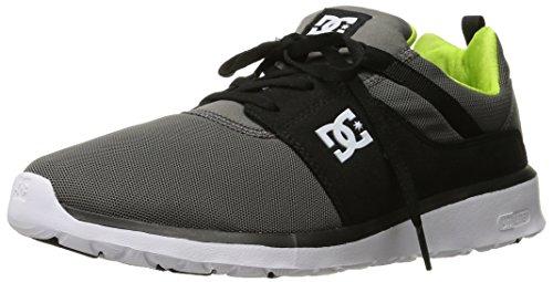 DC Mens Heathrow Casual Skate Shoe Grey/Black/Green