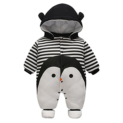 Säugling Neugeboren Baby Jungen Mädchen Cartoon Hooded Spielanzug Jumpsuit Kleidung Outfit Herbst Winter Kleidung