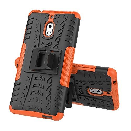 HNNH Fashion Case con Supporto, Custodia in Tessuto TPU + PC Antiurto for Nokia 2.1 Mobile Phone Protection Case (Colore :...
