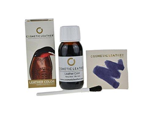 Cosmetic Leather Tintura liquida Blu per Scarpe in Pelle, Vernice per Accessori in Pelle 50 ml