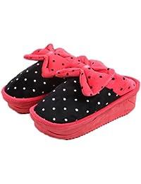 Baymate Unisex Invierno Cálido Acogedor Zapatillas De Estar Por Casa Interior Pantuflas Pink S