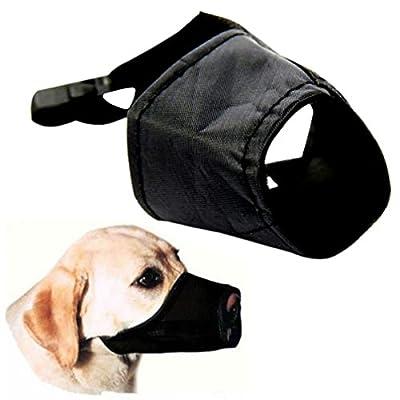 ALCYONEUS Adjustable Dog Pet Nylon Buckle Muzzle Anti Bite Chew Bark Safety Mouth Mask by ALCYONEUS