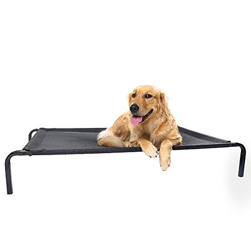 LDFN Zwinger Hundebett Vier Jahreszeiten Universal Medium Großen Hund Bett Waschbar Eisen Haustier Hund Matten,Black-90*60*15cm/35*24*6in