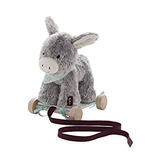 Kaloo Les Amis 2-in-1 Pull Along Plush Animal, Régliss' Donkey