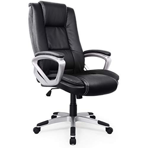IntimaTe WM Heart Chaise de Bureau, Fauteuil Ergonomique de Haut Dossier Hauteur Ajustable, Siège en Similicuir