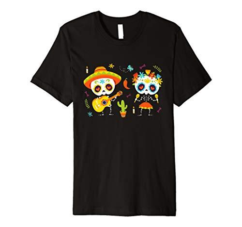 Dia de Los Muertos Kreuz Sugar Skull T-Shirt