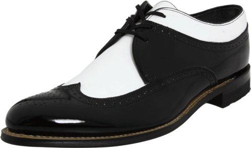 Stacy Adams Men's Dayton Wing-Tip Oxford,Black/White,11 D -