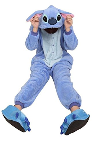 mper HOT Disney Stitch Costume Kigurumi Pajamas party Pajamas Unisex costume sleepwear stitch / M (Disney Stitch-halloween-kostüm)