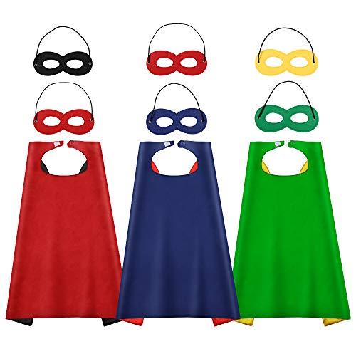 HomeMall Superhelden Kinderkostüm ,Kostüm für Kinder Party, Kinder Maske fur Geburtstag und Halloween Kinderkostum Partei
