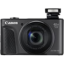 Canon 1791C002 PowerShot SX730 HS Digitalkamera (20,3 MP CMOS-Sensor, 40 Fach Zoom, Full HD, WLAN/Bluetooth, 7,5 cm (3 Zoll)) Schwarz