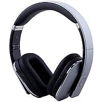 August EP650 Bluetooth v4.2 NFC Kopfhörer mit aptX Low Latency - Kabellose Over-Ear Headphones mit individuellem Sound (silber)