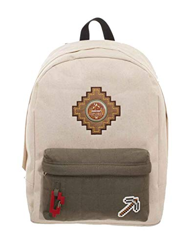 Minecraft Backpack Bag Explorer Patches Logo Nue offiziell Gamer Beige Mens Explorer Jacket