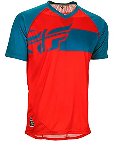 Fly Racing Action Elite Jersey Mountainbike & BMX rot-teal XL