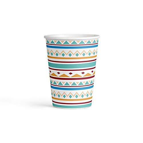 amscan 9904135 - Juego de 8 Vasos de Papel (250 ml)