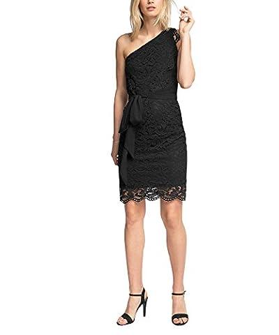 ESPRIT Collection Damen Kleid 056EO1E031-Hochwertige Spitze Schwarz (Black 001), 36