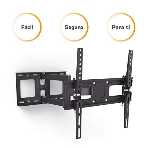 Soporte de pared para TV Samsung de 32-65 pulgadas negro, soporte para TV giratorio fácil de instalar...
