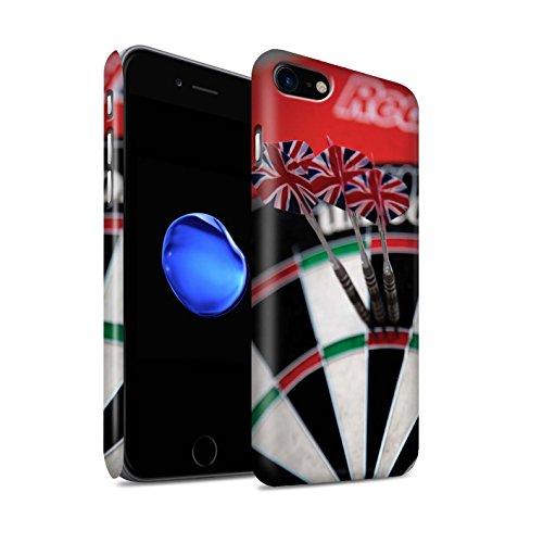 STUFF4 Matte Snap-On Hülle / Case für Apple iPhone 8 / Doppel 10 Muster / Darts Foto Kollektion Dreifach 20/180 Maximal
