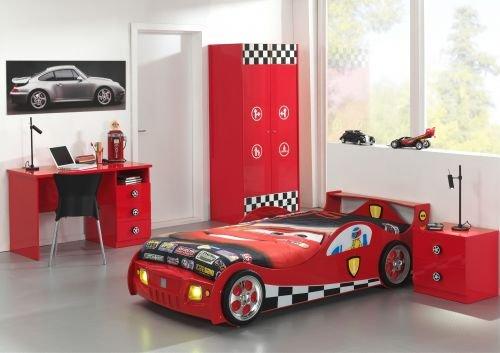 *'Autobett sc865bur Monza Büro MDF Rot 219x 95x 60cm*