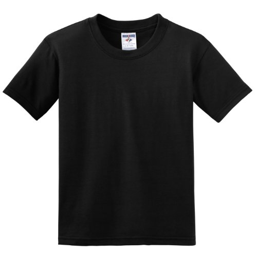 Jerzees Youth 5 Oz hidensi-t T-Shirt Schwarz