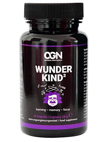 Wunderkind Original Nootropics - Brain Booster zur Leistungssteigerung und Konzentration - Vegane Kapseln mit 5htp,Rosenwurz,Ginkgo