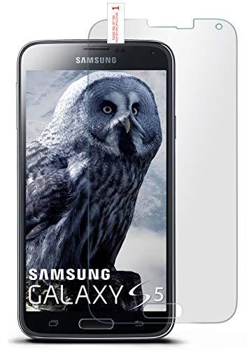 moex 9H Panzerfolie für Samsung Galaxy S5 | Panzerglas Matt Glasfolie [Tempered Glass] Screen Protector Displayschutz-Folie für Samsung Galaxy S5 / S5 Neo Schutzfolie Glas (S5-fingerprint Protector Screen)