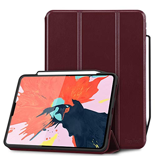 ab5bce68e9 Toplive Luxury Cowhide Genuine Leather iPad Pro 12.9 Case (2018), [Support  Apple