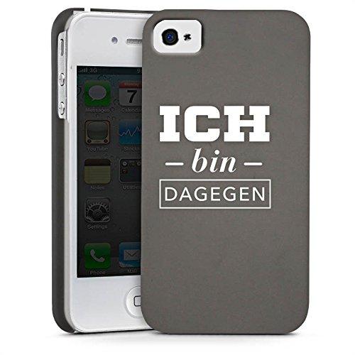 Apple iPhone X Silikon Hülle Case Schutzhülle Ich bin dagegen Sprüche Statement Premium Case glänzend