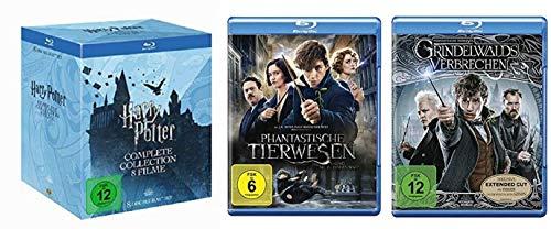 Harry Potter 1-7.2 Box + Phantastische Tierwesen Teil 1+2 [Blu-ray Set]