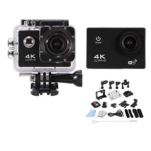 Ultra HD 4K macchina fotografica di azione 1080P Wifi impermeabile Sport Cam 170 ° grandangolare subacquea Camcoder con il caso impermeabile telecomando e kit accessori AH390 mobili Materiali edili GU