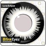 'Blink eyez Incredibile'Luna Eclissi in Bianco e Nero' lenti a contatto - Perfetto per costumi di Halloween, Carnevale, Feste e Costume. zero Power uso quotidiano.'Zombie' Il Giorno dei Morti' ...