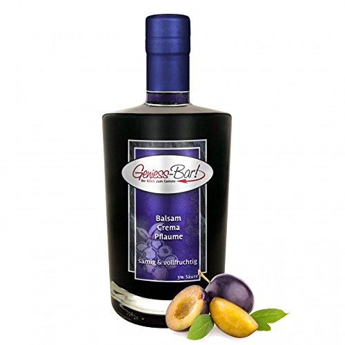 Balsamico Creme Pflaume 0,5L mit original Crema di Aceto Balsamico di Modena IGP 3% Säure