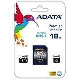 Adata ASDH16GU1CL10-R Carte Mémoire SDHC Classe 10 16 Go + Adaptateur SD