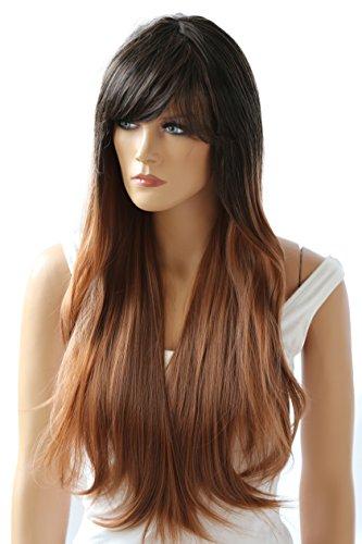 PRETTYSHOP Parrucca da donna Fashion Lunga Hair Ricci ondulati wavy  resistente al calore marrone mix   5c5ddb844e11