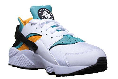 NIKE Mens Air Huarache OG White Turquoise Yellow Trainer