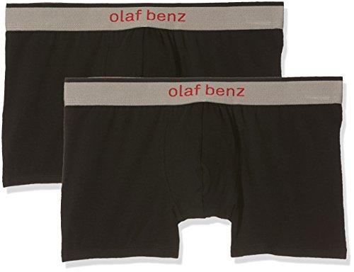 Olaf Benz Herren RED1010 Boxerpants Shorts, Schwarz (Black 8000), Medium (2erPack)