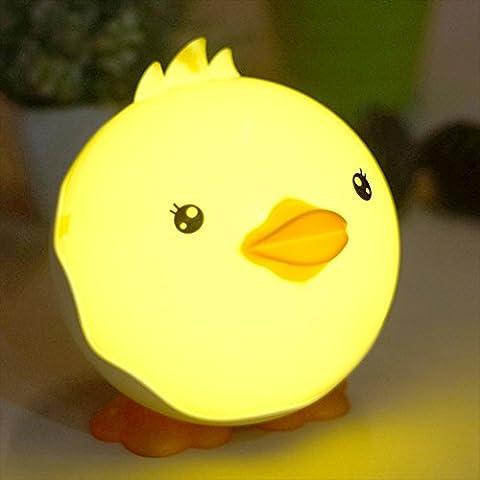 Forepin® Schön Ente Nachtlicht Nachtlampe Tischlampe Dimmbar Tragbar Lampe für kinder Baby Erwachsene Kinderzimmer Schlafzimmer