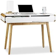 Escritorio con cajones, diseño nórdico, lavabo con mueble de baño, los niños de la mesa de escritorio, HxWxD: 73x 100x 45cm), color blanco