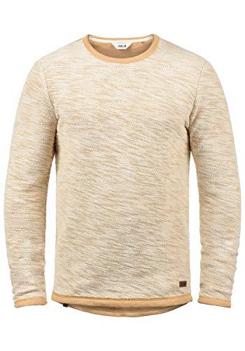!Solid Flocks Herren Sweatshirt Pullover Flocksweat Pulli Mit Rundhalsausschnitt Aus 100% Baumwolle, Größe:L, Farbe:Ermine (5944)