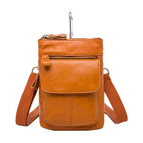Zhhlaixing Mens Womens Damen Slim Mini Zipper Cross Body Backpack Shoulder Cycling Bag Waist Bag Christmas Halloween Yellow