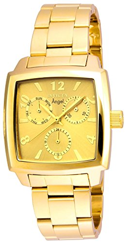Invicta Women's 'Angel' Quartz Stainless Steel Casual Watch, Color:Gold-Toned (Model: 21710)