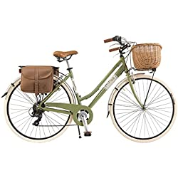 Vélo Citybike Byciclette CTB Femme Dame Vintage Retro Via Veneto Aluminium Vert