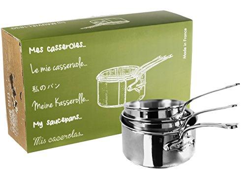 Mauviel1830 - M'Cook 521050 - Série 3 Casseroles inox - 16 à 20 cm