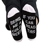 Yanhonin Unisex lustige Worte, Herbst, kurz, auf Socken, Bootssocken, Fußkettchen, wenn Sie dieses Geschenk aus Baumwolle für Liebhaber von Kaffee, Geschenk, 4 Farben D
