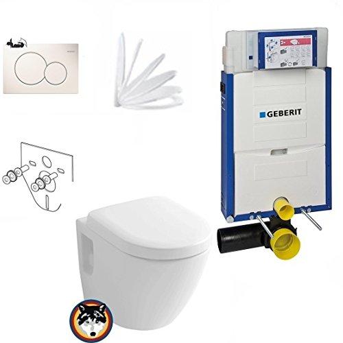 Preisvergleich Produktbild Geberit Kombifix Plus UP 320 Vorwandelement mit Sigma 01, Toto CW762Y Wand WC TORNADO FLUSH, WC Sitz Softclose