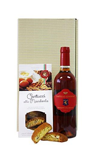 Toskana Set - Vinsanto del Chianti DOC 2011 Castell Sonnino + Mandel Cantucci Italienisches Feinkost Geschenkset