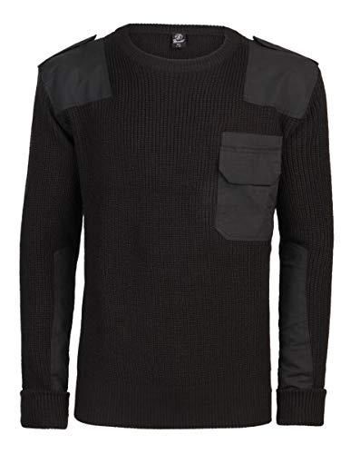 Brandit, maglione militare, maglione bundeswehr, per uomo, nero m