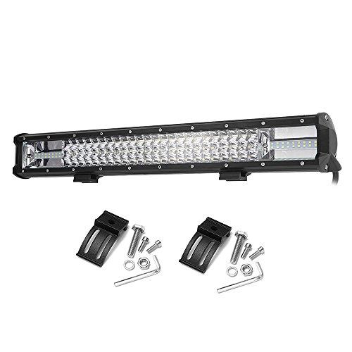 KKmoon 324W 13po Spot LED Light Bar Phare de Travail Flood 12V 24V Lampe Voiture SUV Moto Headlamp